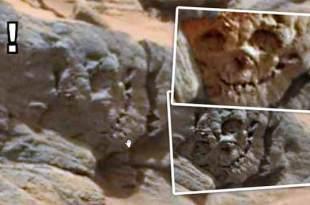 """Vidéo: Un """"Crâne fossilisé"""" repéré sur Mars?"""