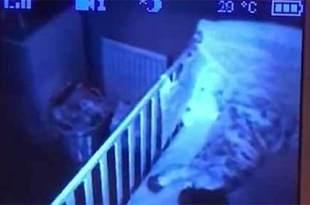 Un père panique après avoir repéré un objet flottant près du lit de son bébé