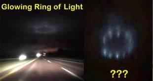 Un mystérieux anneau de lumière photographié sur la route dans le Minnesota