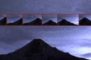 Un OVNI a décollé du volcan Colima au Mexique