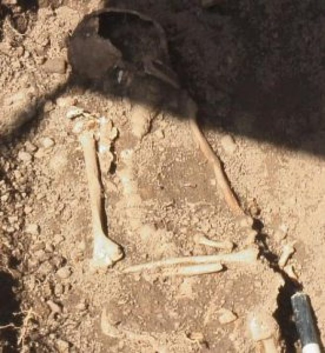 Remains found at New Hartford High School in 2009 during building work.