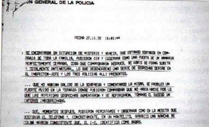 Vallecas case police report