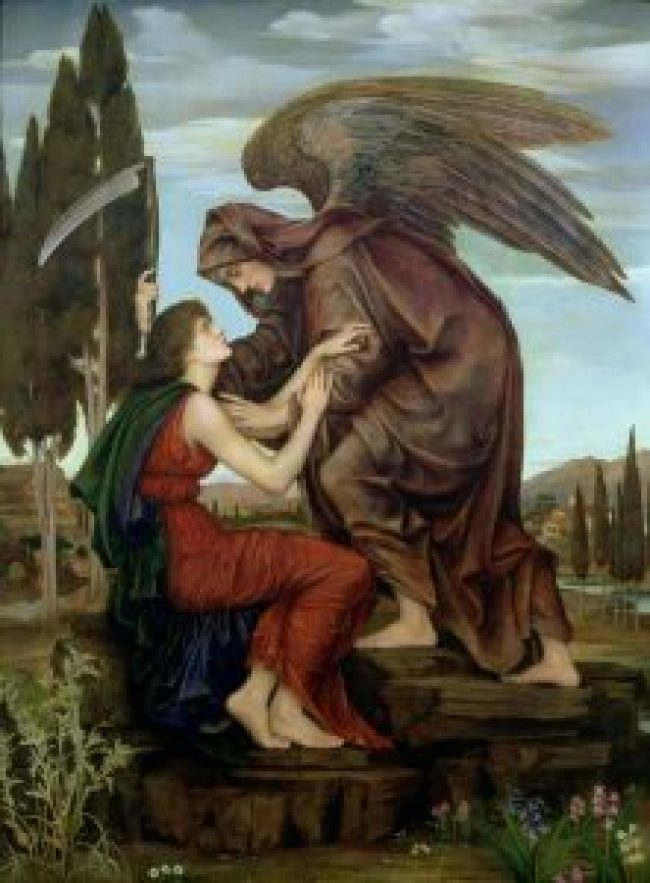 Angel of death Evelyn De Morgan