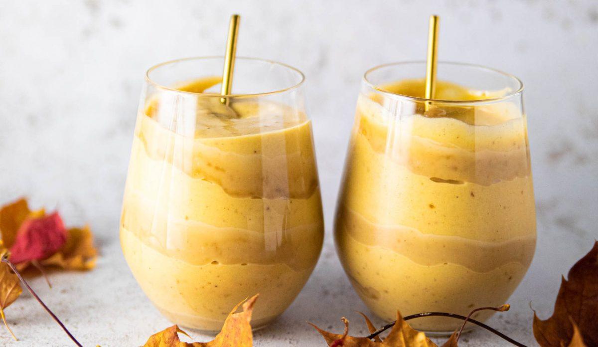 kurpitsasmoothie ja maapähkinävoi karamelli