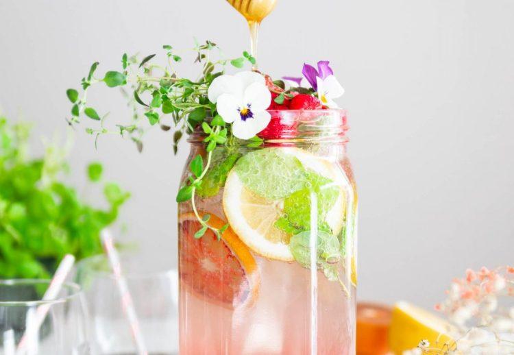 vadelma-hunaja lemonade
