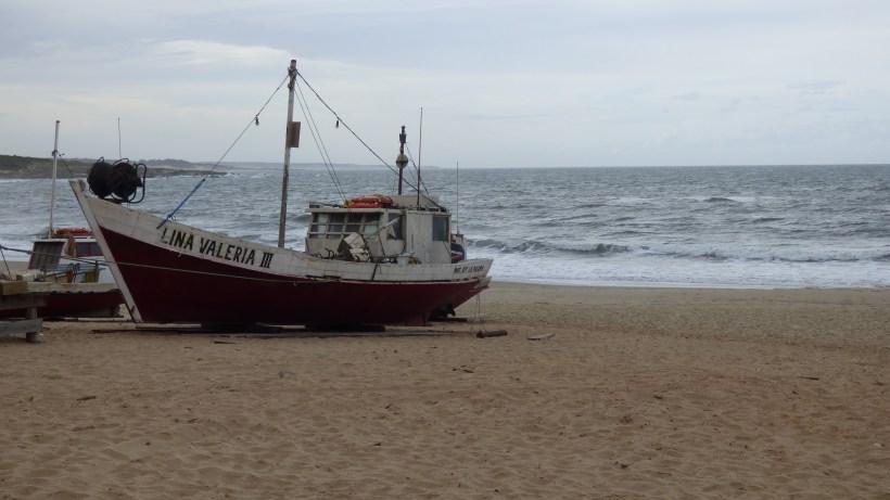 Playa de los pescadores em Punta del Diablo