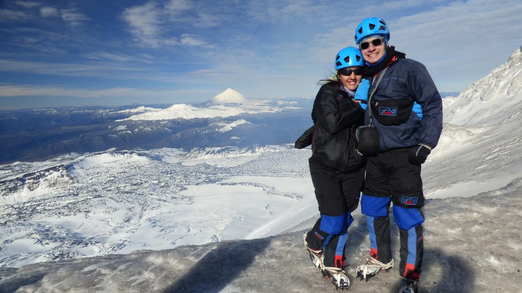 Vista para o Vulcão Lanin