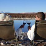 Um brinde nas Lagunas de Baltinache