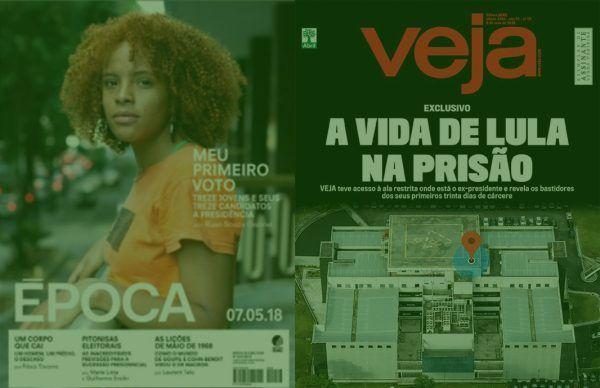 Revistas de final de semana: Veja sai em busca da vida de Lula na prisão. Época perscruta como pensam os jovens sobre a disputa presidencial