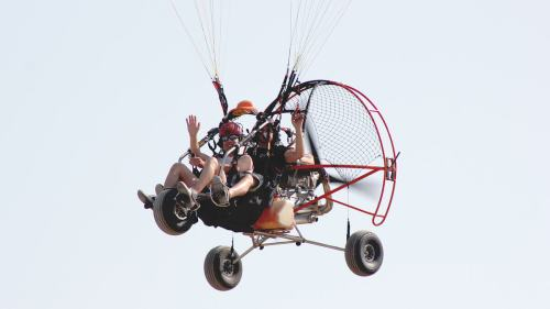 Biplaza Paramotor - Sanlucar de Barrameda vuelo en trike Vuelo en Trike Cadiz   Parapente Biplaza Motor BiplazaMotor 1