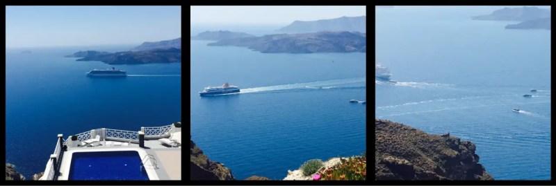 Views from the Ca;dera Thira Santorini Greece