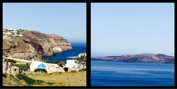 Caldera Road leading to Akrotiri Santorini Greece