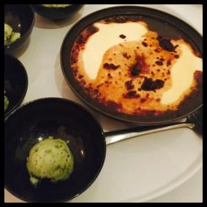 Mulberry Souffle 'Skunkvine' Icecream Yin Yang Private Kitchen Hong Kong