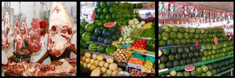 Fruit, Veg & Meat @ Deira Fish Market. Dubai. UAE