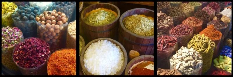Spices in bulk @ Deira Spice Market. Dubai. UAE