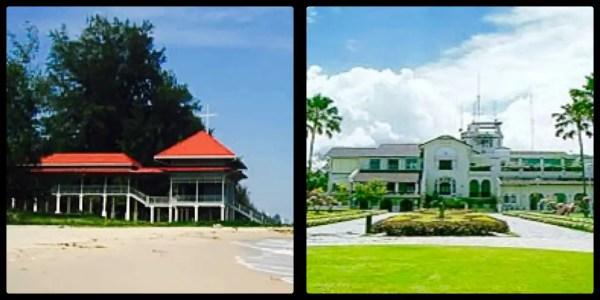 The first Summer Palace & Klaikangwon - the current Summer Palace. Hua Hin Thailand