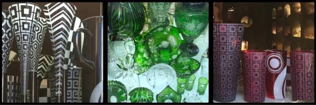Czech Glass. Prague. Czech Republic.