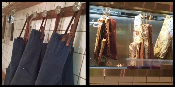 Butcher's aprons & meeeaaat! @ Fleisch