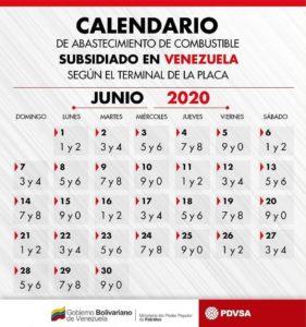 Calendario para surtir gasolina subsidiada en junio 2
