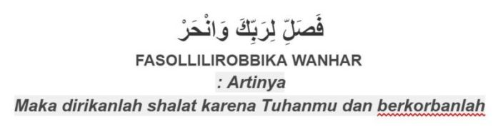 tuntunan sholat al-kautsar ayat 3