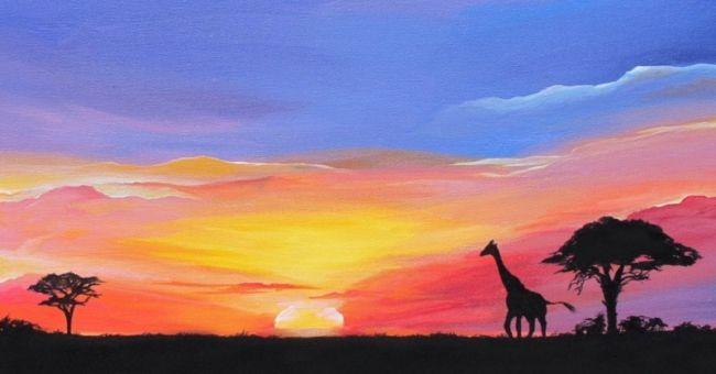 Lukisan Pemandangan Senja