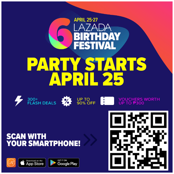 How to Avail of Lazada Voucher Codes at the Lazada Birthday Sale on April 25 to 27 - Para sa Pinoy