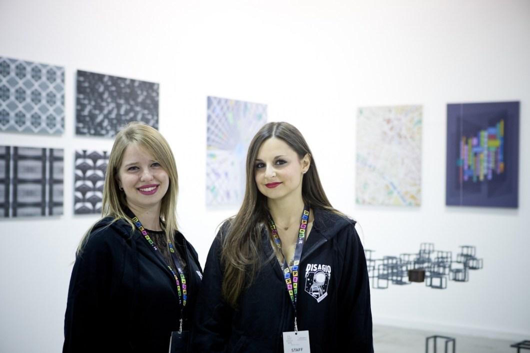 Le curatrici Aurora Bolandin e Flaminia Valentini