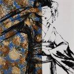 ROBERTO MITOLO_49_05, acrilico su tessuto giapponese, 2016, h75x75, H
