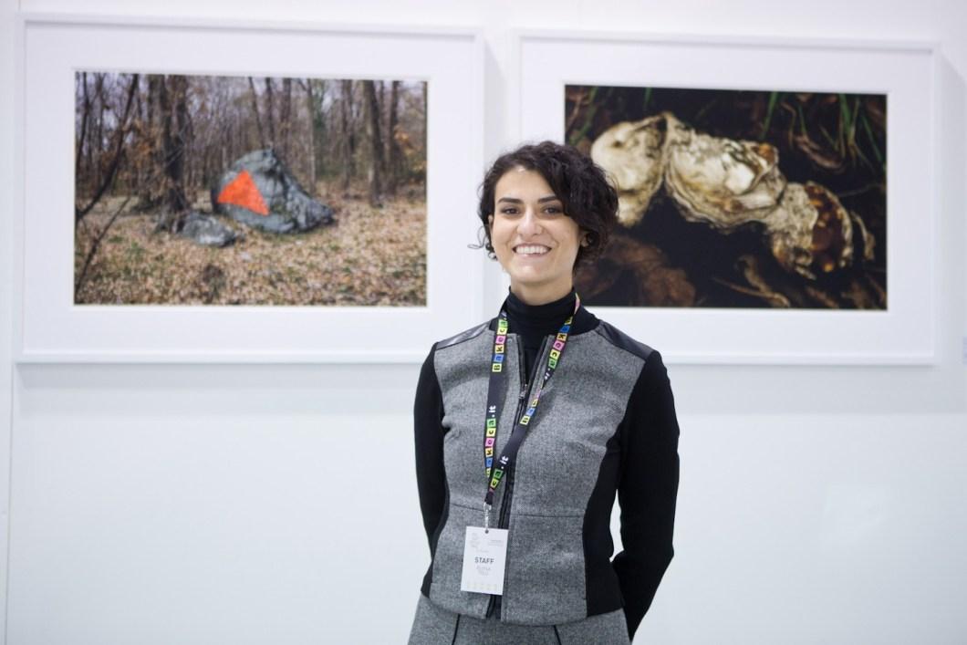 La curatrice Eloisa Tolu