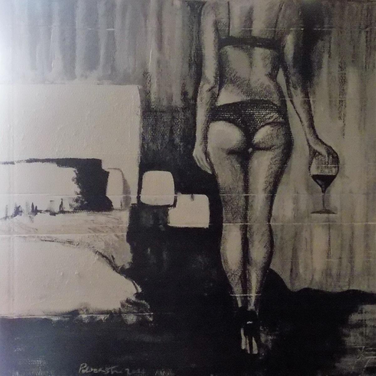 ANGELA POLICASTRO 2015 in the bedroom 120x120 tec.mista su cartone (1)