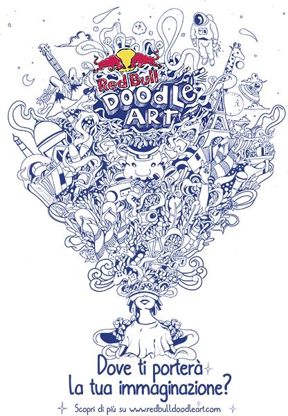 red bull doodle art 2017 key art IT