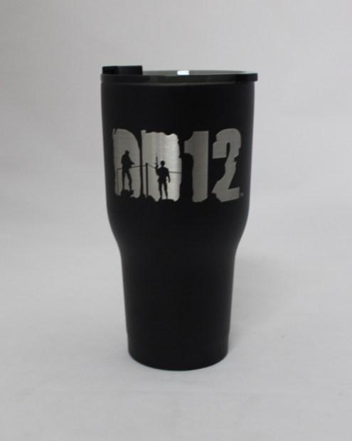 30 oz DD12 Black with lid on