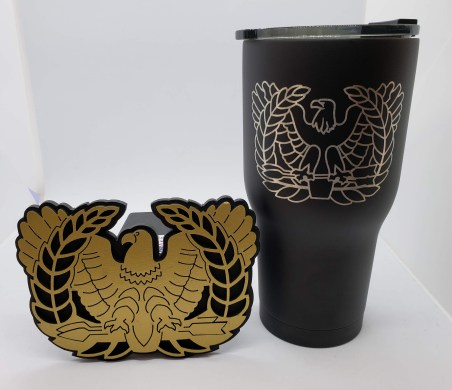 Chief Warrant Office 30oz RTIC tumbler & hitch cover