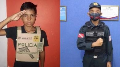 Photo of Menino paraense que viralizou com colete de papelão é recebido pela Polícia Militar