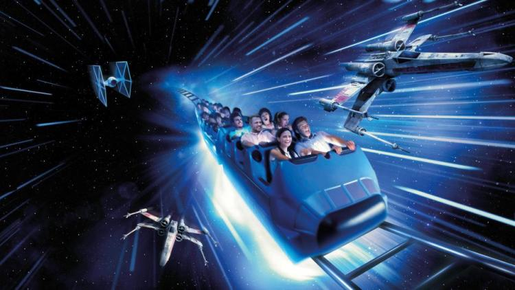 Star Wars Hyperspace Mountain DisneyLand
