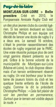 Article rugby - MIDOL 24/10/2016