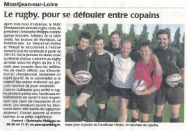 Article rugby - Création rugby PARC