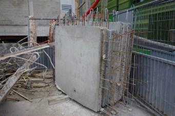Parois préfabriquées courbes... pour la rampe d'accès aux sous-sols @CK