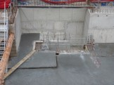 Emplacement de l'escalier d'accès aux sous-sols pour les bâtiments A & B