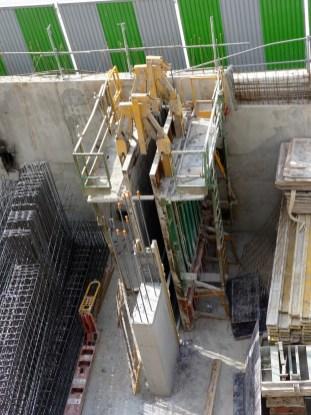 Pilier en construction