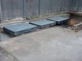 Installation, en face de Parc 17, de 3 bouches d'évacuation des déchets par pneumatique
