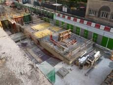 Préparation de la dalle du niveau rez-de-chaussée des duplex A14, B12 et B13