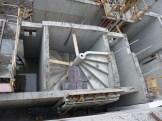 Escalier du bâtiment A (à droite couloir de sortie et encore à droite les ascenseurs)