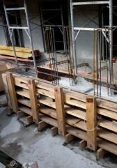 Coffrage pour construire les extrémités extérieures des balcons