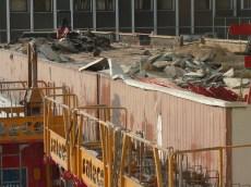 Début de destruction des bétons des anciens bureaux de l'Hôtel Ibis
