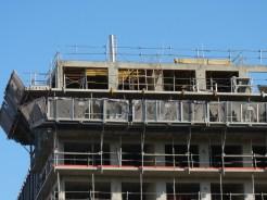 Bâtiment A,10° étage réalisé, dalle du 11° en préparation