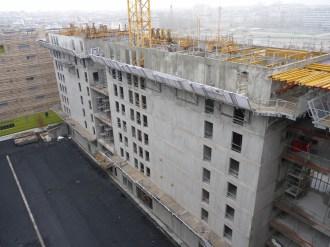 Arrière de Parc 17 depuis le haut de l'hôtel Ibis, direction Sud-Est, 14 décembre 14