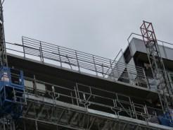 Garde-corps, 11° étage, terrasse de la faille entre les bâtiments B et C