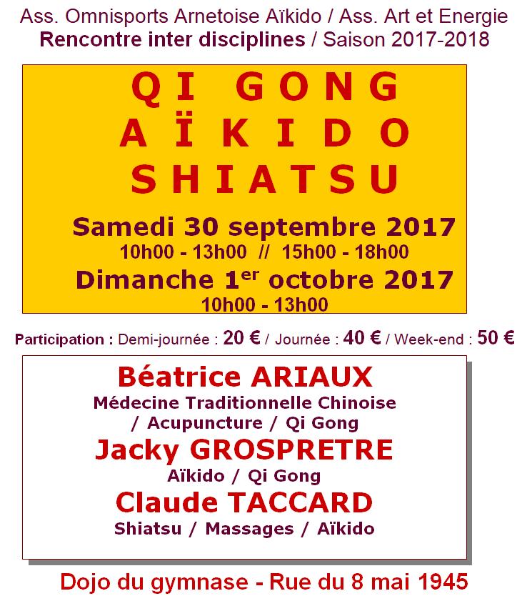 Rencontre inter disciplines – Arnay-le-Duc (21) – septembre 2017