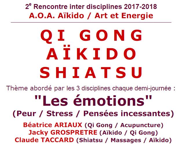 Rencontre inter disciplines : Qi Gong, Aïkido, Shiatsu – 24-25 février 2018